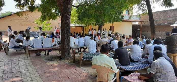 ભારતીય જનતા પાર્ટી દ્વારા ગામે ગામે ખાટલા બેઠક થકી ખેડૂતો સાથે ચર્ચા