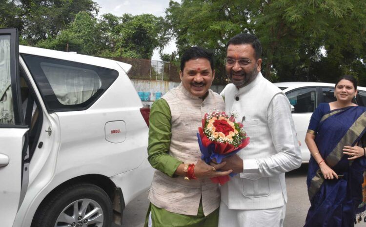 On the Occasion Of Birthday, Union Minister of State Shri Devu Sinh Ji came to my office